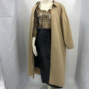 L.L. Bean Vintage Women's L Tan Trench Coat Jacket